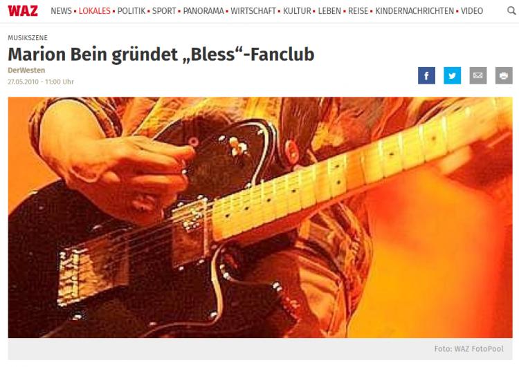 pressefoto-waz-Marion Bein gründet Roland Bless Fanclub